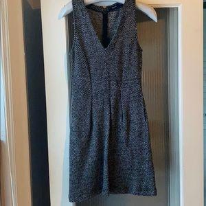 Black and white tweed like dress